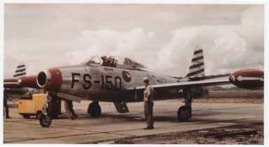 F-84E of the 22nd FBS. Credit: Campbell Archives